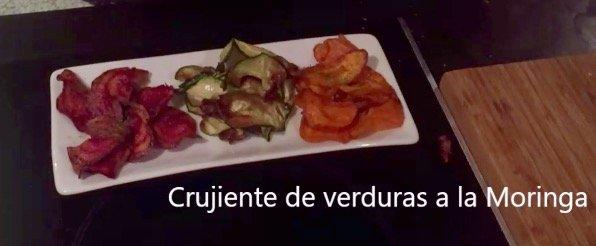Crujiente de Moringa de verduras a la Moringa