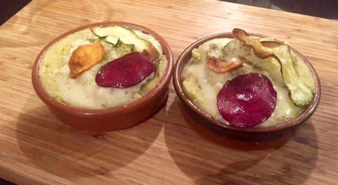 Polenta, Moringa y gorgonzola