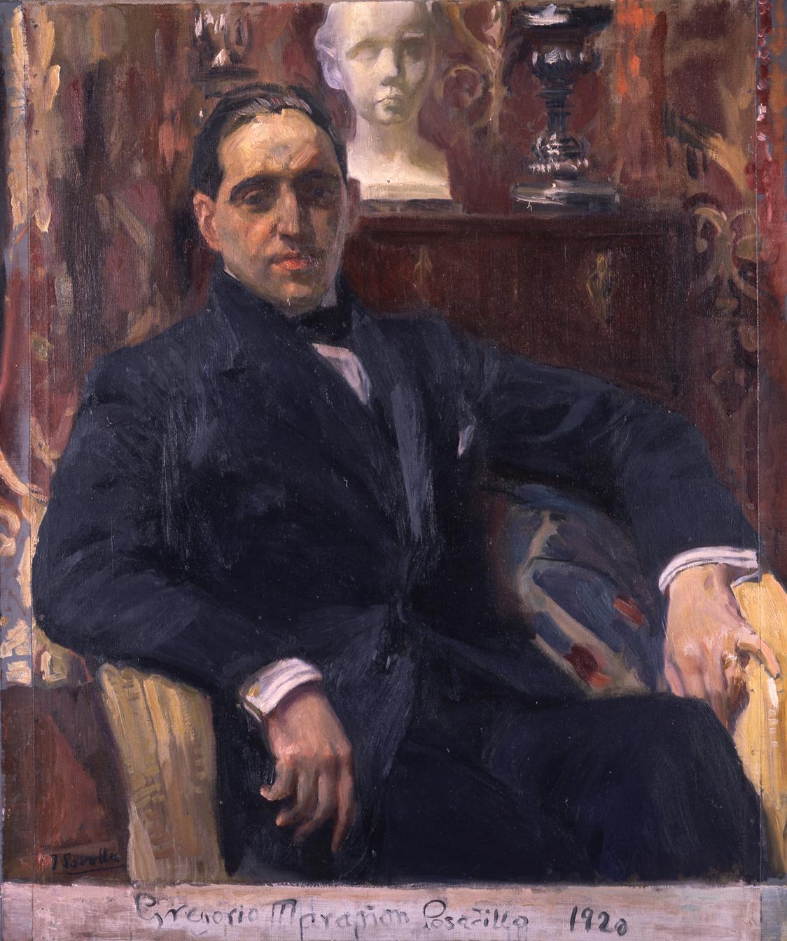 Gregorio Marañón retratado por Sorolla.