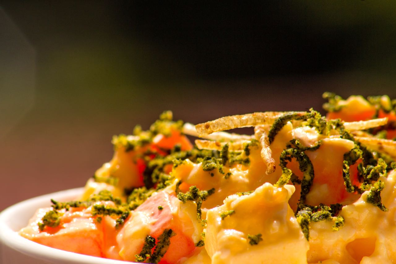 EcoEnsaladilla de zanahorias con trufa de Moringa y lima.